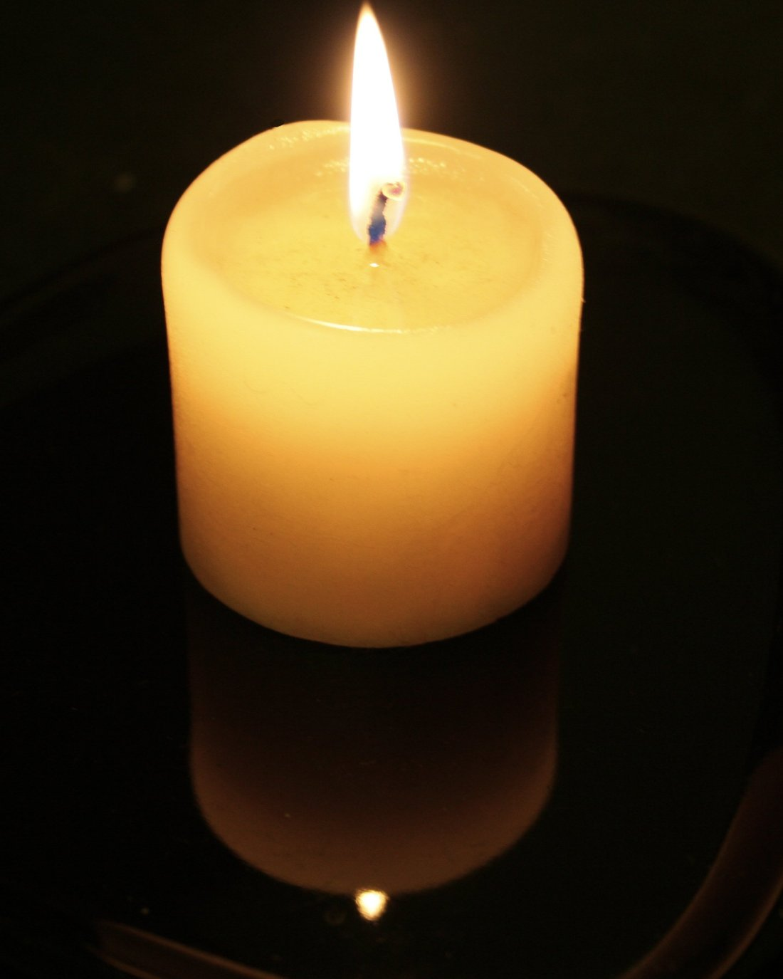Candle on the window sill